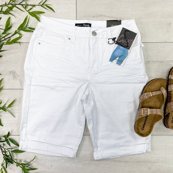 *YMI* Curvy Fit High Rise Bermuda Short, White