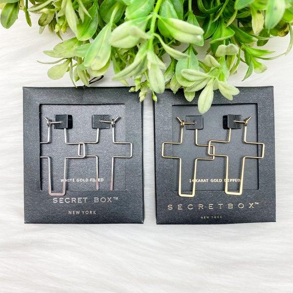 Cross Stencil Earrings