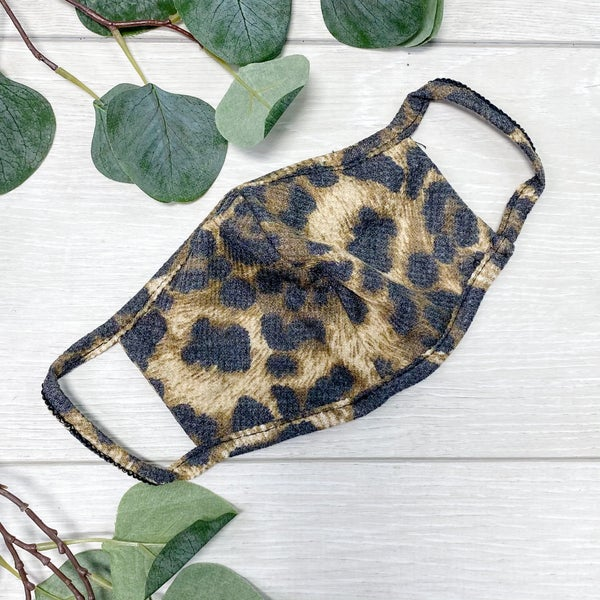 Cheetah Print Face Covers [[SET OF 12]]