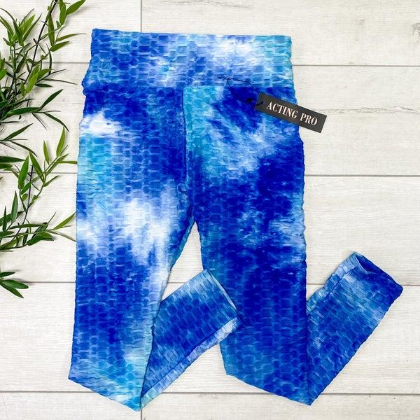 Tie Dye Honeycomb Legging, Mint