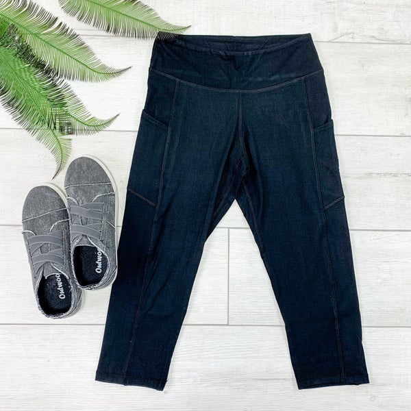 Capri Athletic Pocket Legging, Black