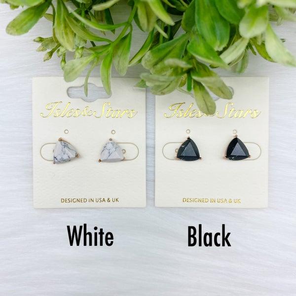 Triangle Stone Stud Earrings *Final Sale*
