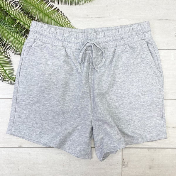 *PLUS* French Terry Shorts, Heather Gray