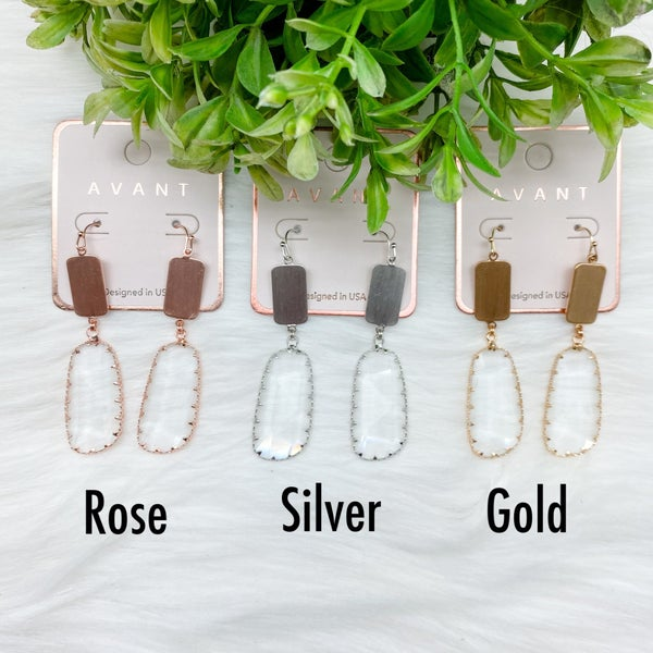 Crystal Drop Dangle Earrings