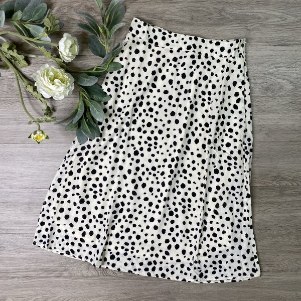 *Kendra's Collection* Cheetah Skirt, Ivory