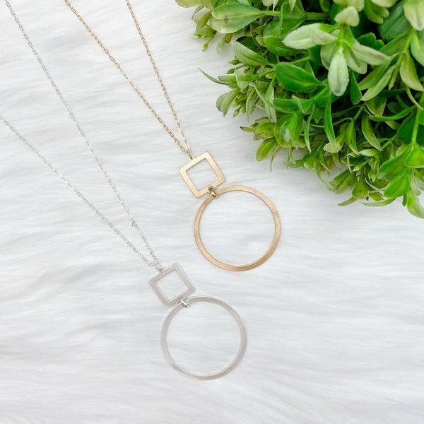 Multi Shaped Pendant Long Necklace *Final Sale*