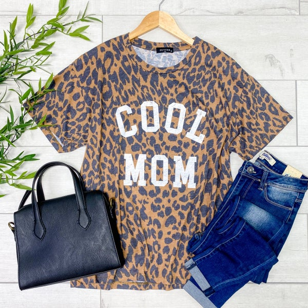 *Kendra's Collection* Cool MOM Graphic Tee, Brown