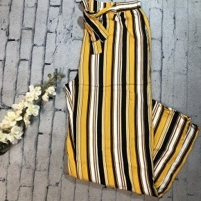 Striped Pants w/Tie Waist, Yellow (N)