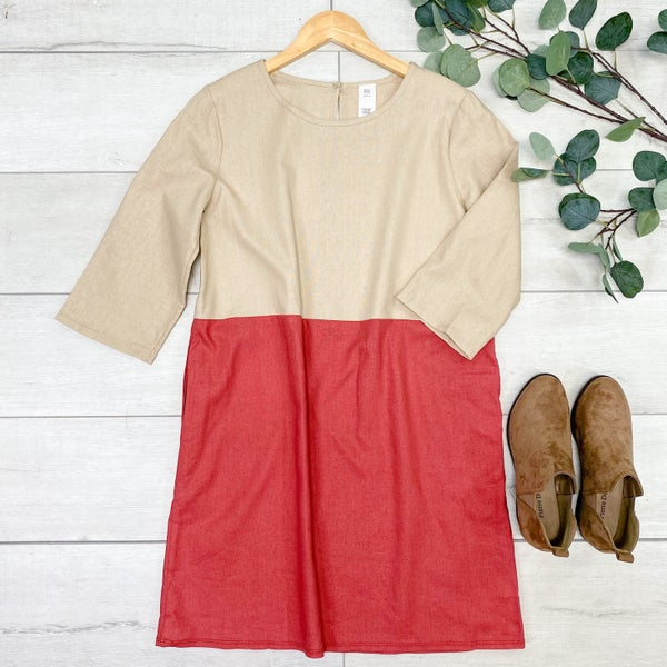 Color Block Dress, Rose