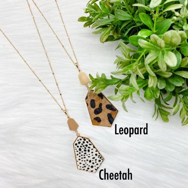 Animal Print Long Necklace *Final Sale*