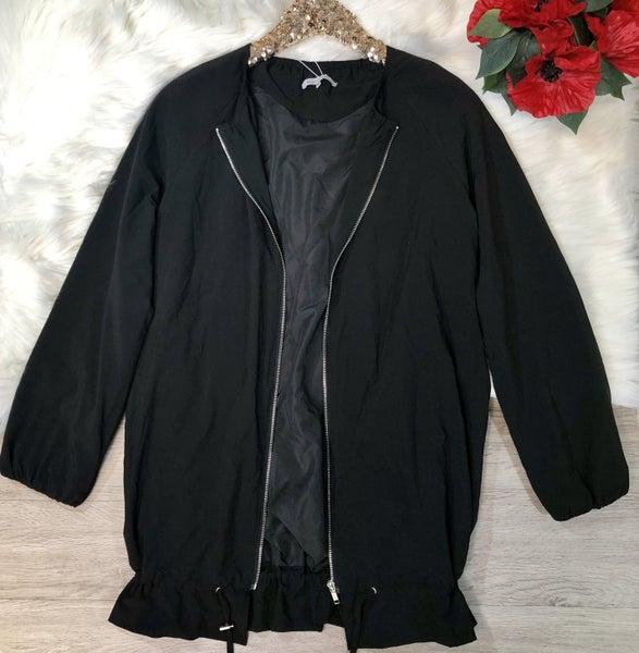 Lightweight Zip Up Jacket, Black (N)