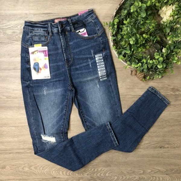 High Rise Distressed Skinny Jean, Medium