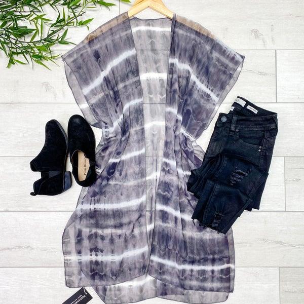 Tie dye Kimono, Black