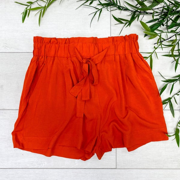 Paperbag Shorts, Burnt Orange *Final Sale*