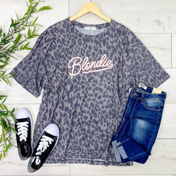 *Kendra's Collection* Blondie Graphic Tee, Gray
