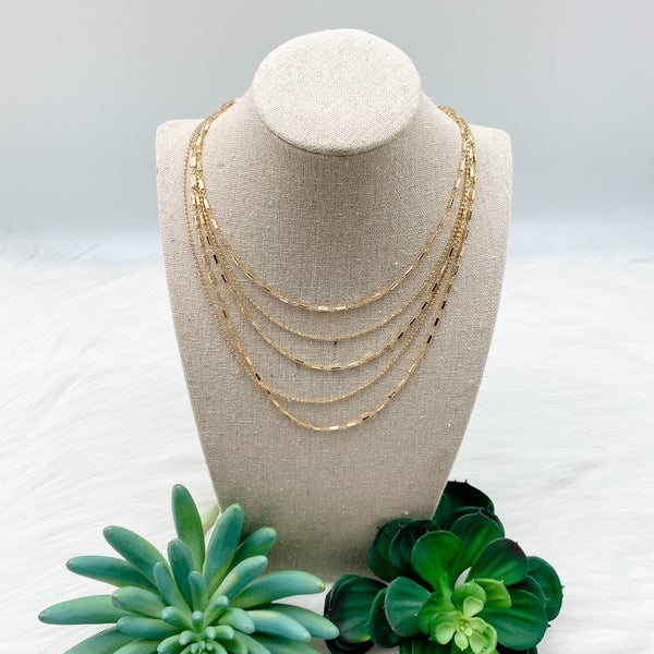 Short Layered Chain Necklace
