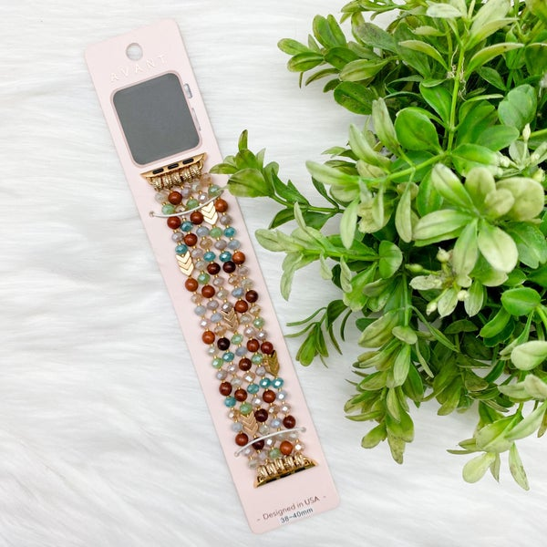 Beaded Apple Watch Band, Mint