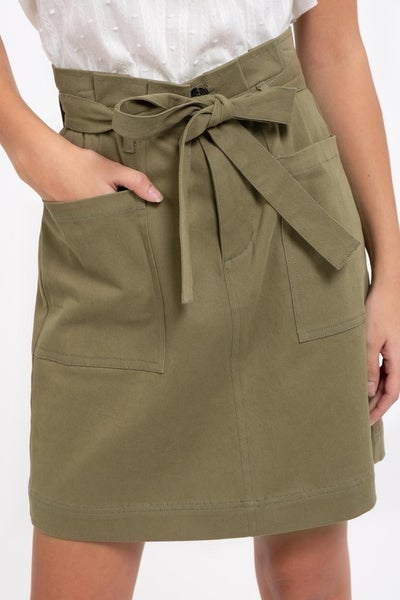 Fornt Pocket Mini Skirt, Olive