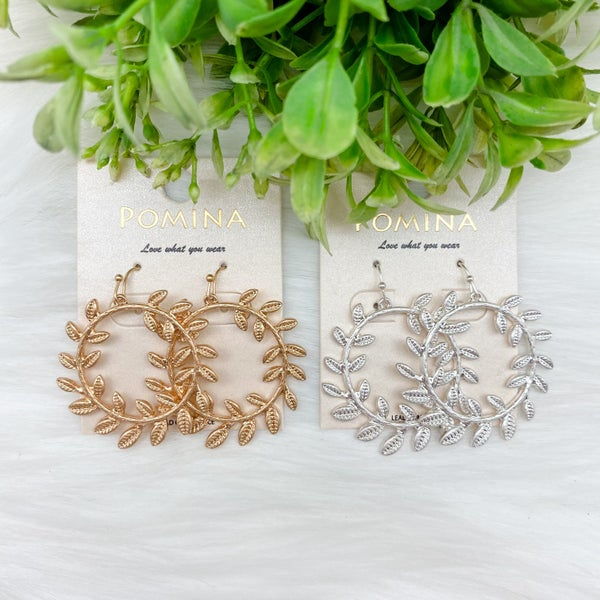 Wreath Hoop Earrings *Final Sale*