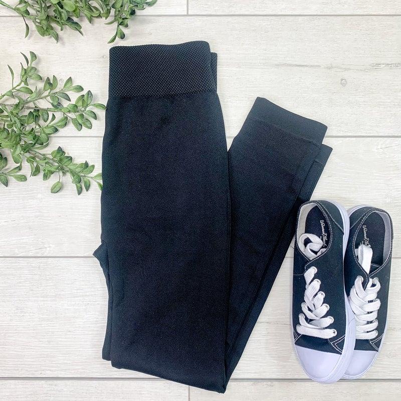 Maternity Leggings - BLACK