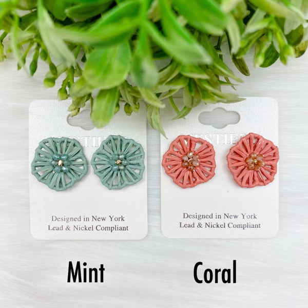 Flower Stud Statement Earrings *Final Sale*