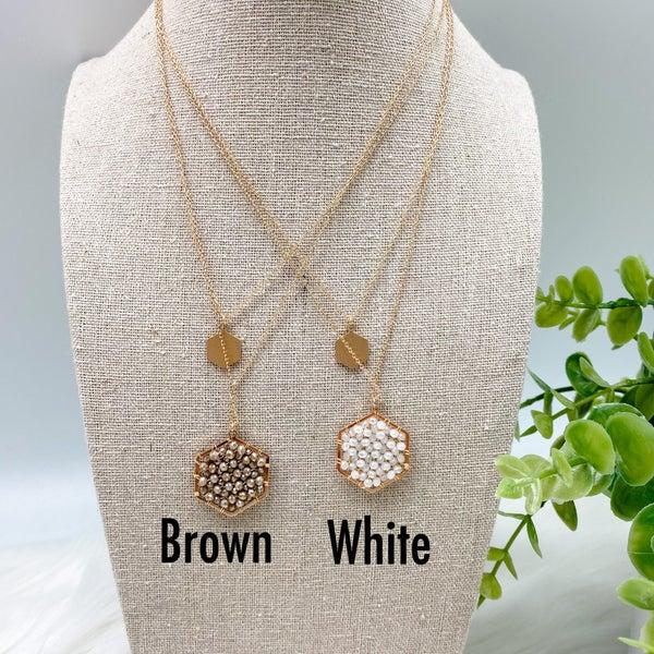 Hexagon Short Layered Necklace *Final Sale*