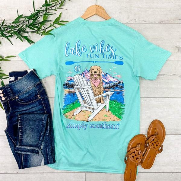 *Simply Southern* Lake Vibes T-Shirt, Seafoam