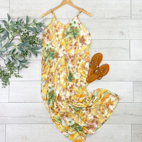 Tie Dye Maxi Dress, Yellow