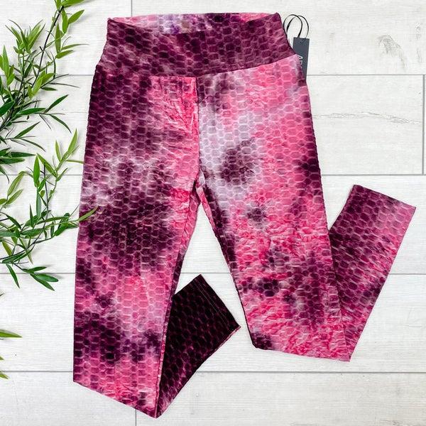 Tie Dye Honeycomb Legging, Pink