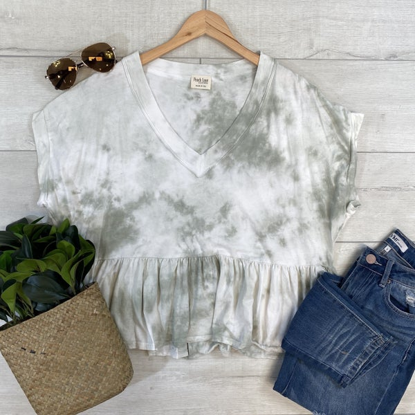 *Kendra's Collection* Tie-dye Knit Top, Olive