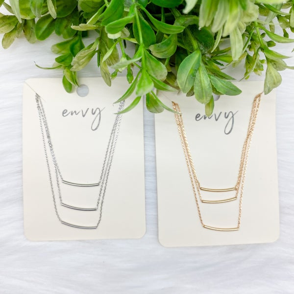 Triple Layer Short Necklace