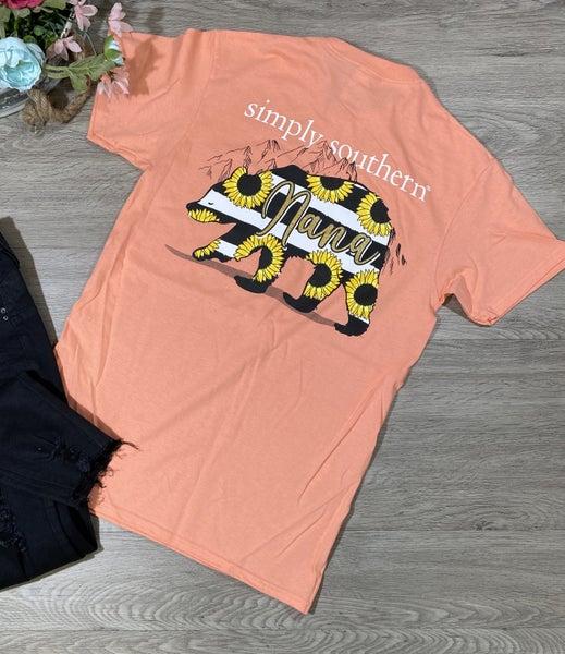 *Simply Southern* Nana Bear T-Shirt, Peachy *Final Sale*