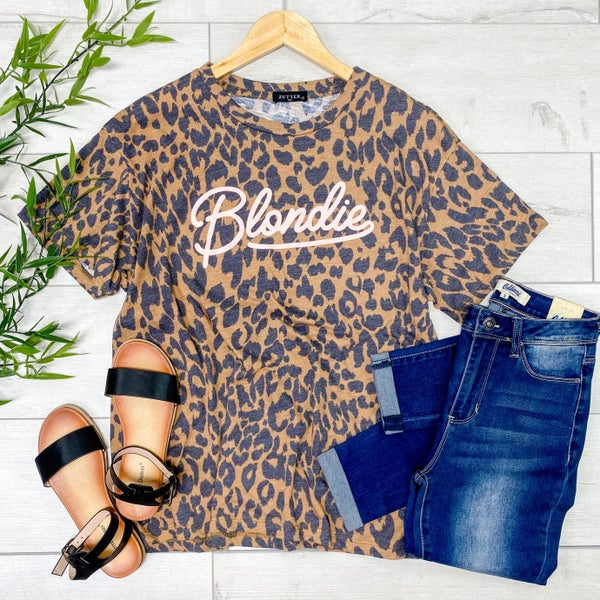 *Kendra's Collection* Blondie Graphic Tee, Brown