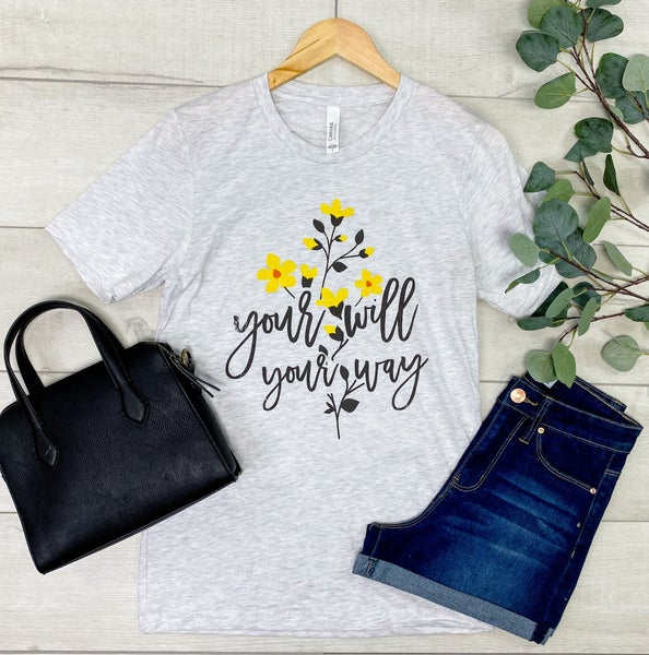 *Kendra's Collection* Your Will Your Way Graphic Tee, Grey