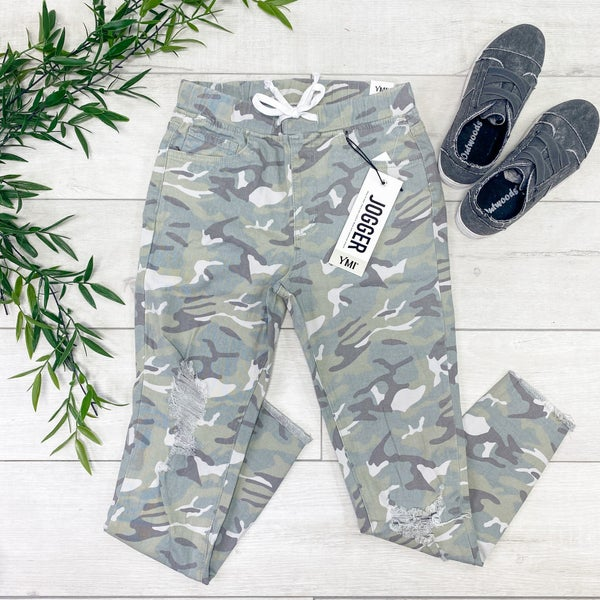*YMI* High Rise Ankle Jogger, Light Camo