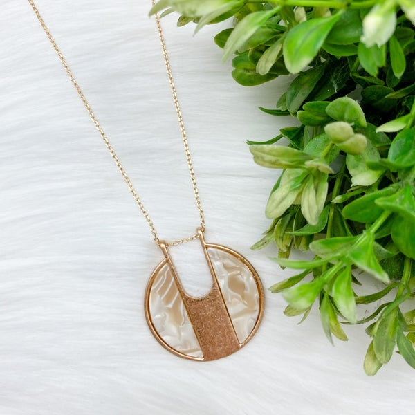 Long Round Acetate Pendant Necklace