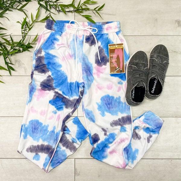 Tie Dye Jogger, Blue