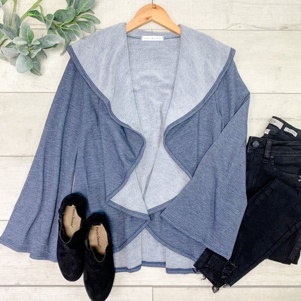 Flyaway Cardigan, Blue *Final Sale*