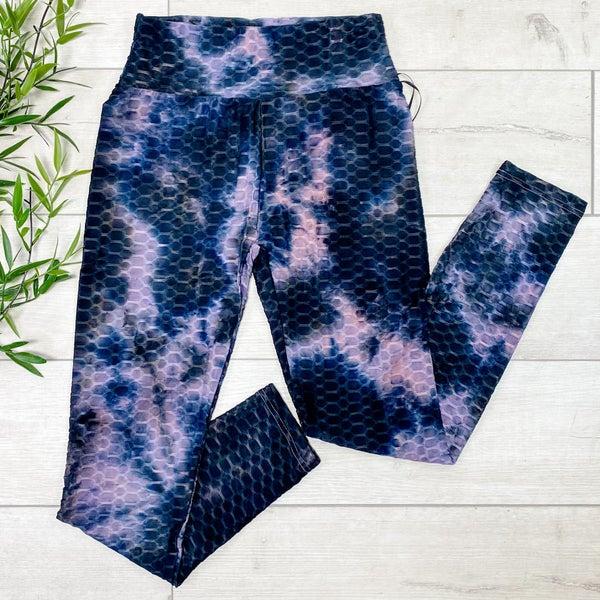 Tie Dye Honeycomb Legging, Purple