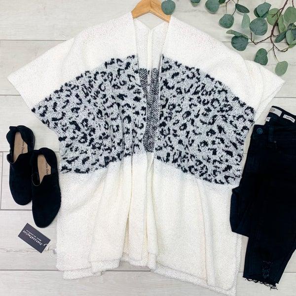 Leopard Kimono, Ivory