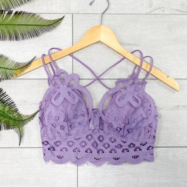 Lace Bralette, Dusty Lavender