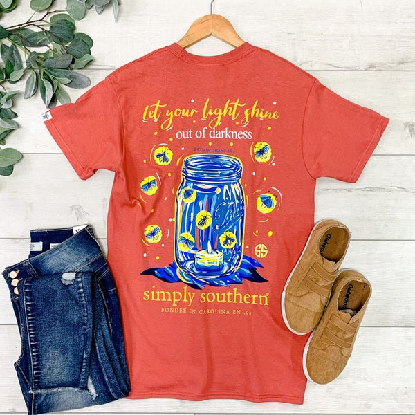 *Simply Southern* Let Your Light Shine T-Shirt, Spice