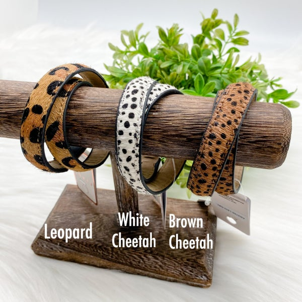 USB Cable Wrap Animal Print Bracelet *Final Sale*