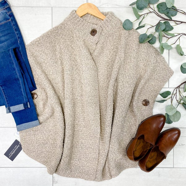 Capetown Sweater w/Buttons, Oatmeal