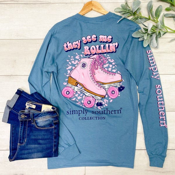 *Simply Southern* LS Rollin Tee, Stone