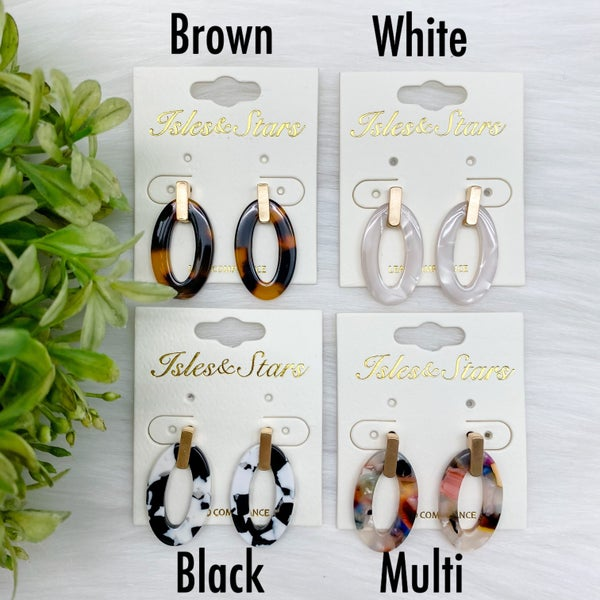 Acetate Stud Earrings *Final Sale*