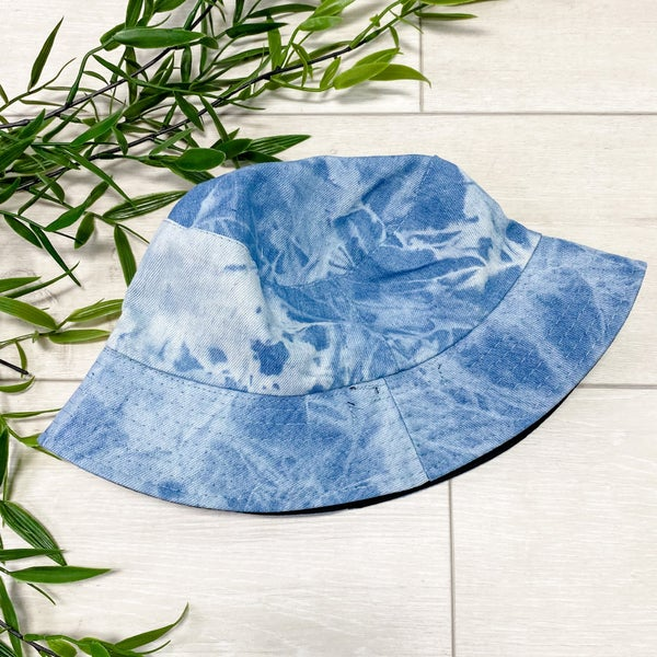 Mineral Washed Bucket Hat, Light Denim