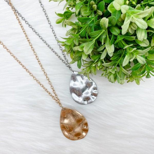 Long Teardrop Pendant Necklace *Final Sale*