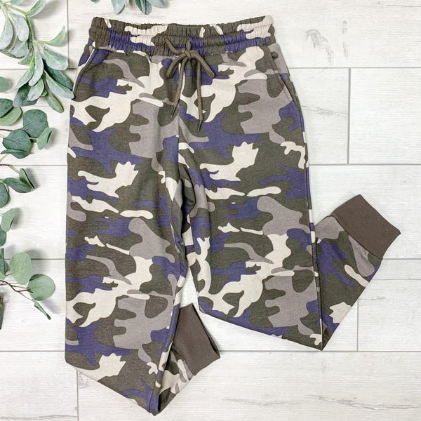 Camo Printed Jogger, Dusty Camo