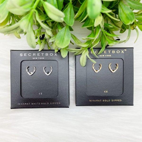 Antler CZ Stud Earrings *Final Sale*